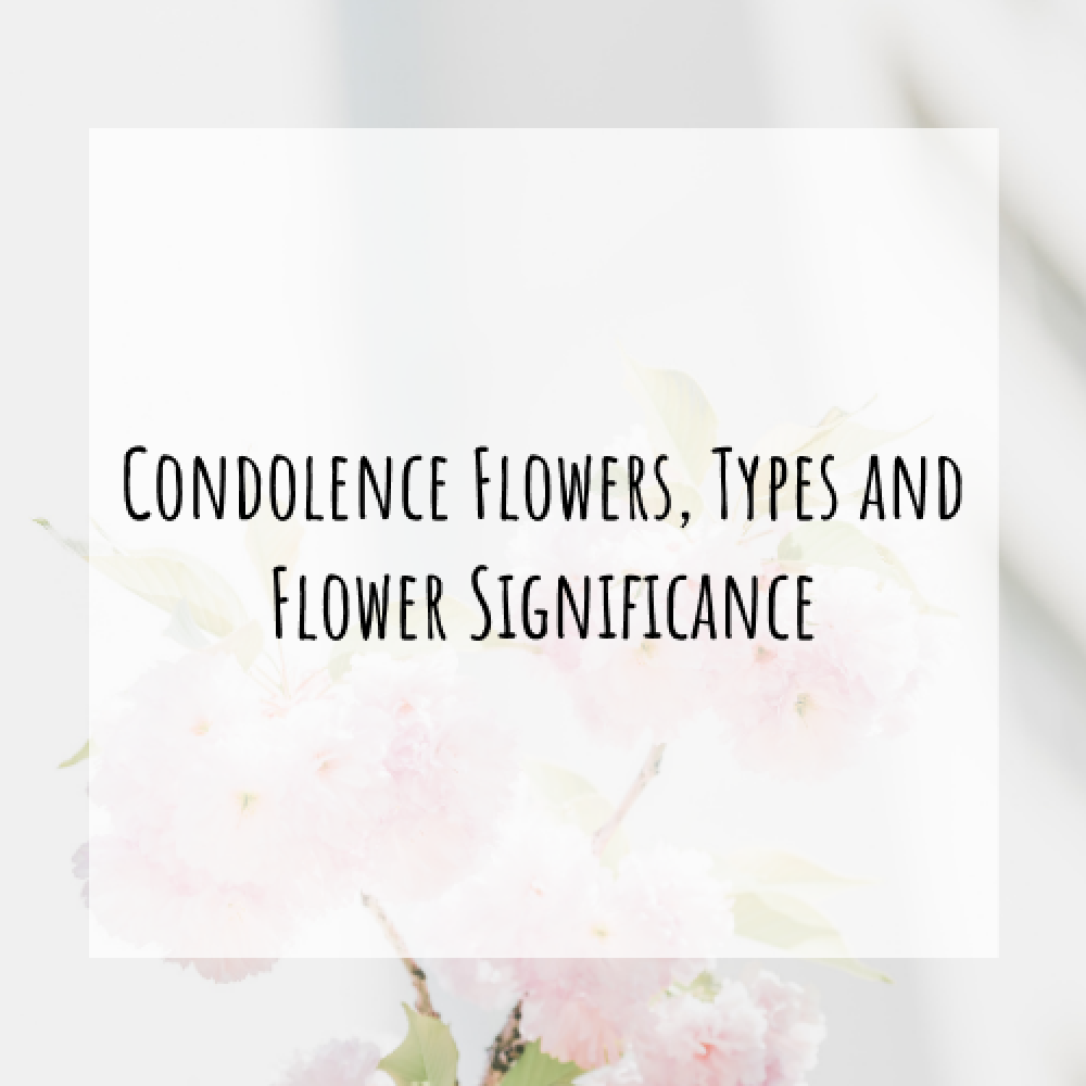 Condolence Flowers, Types and Flower Significance