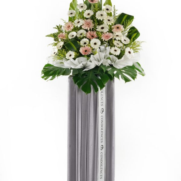 Funeral Flower Stand & Condolence Flowers Malaysia - Purity & Love
