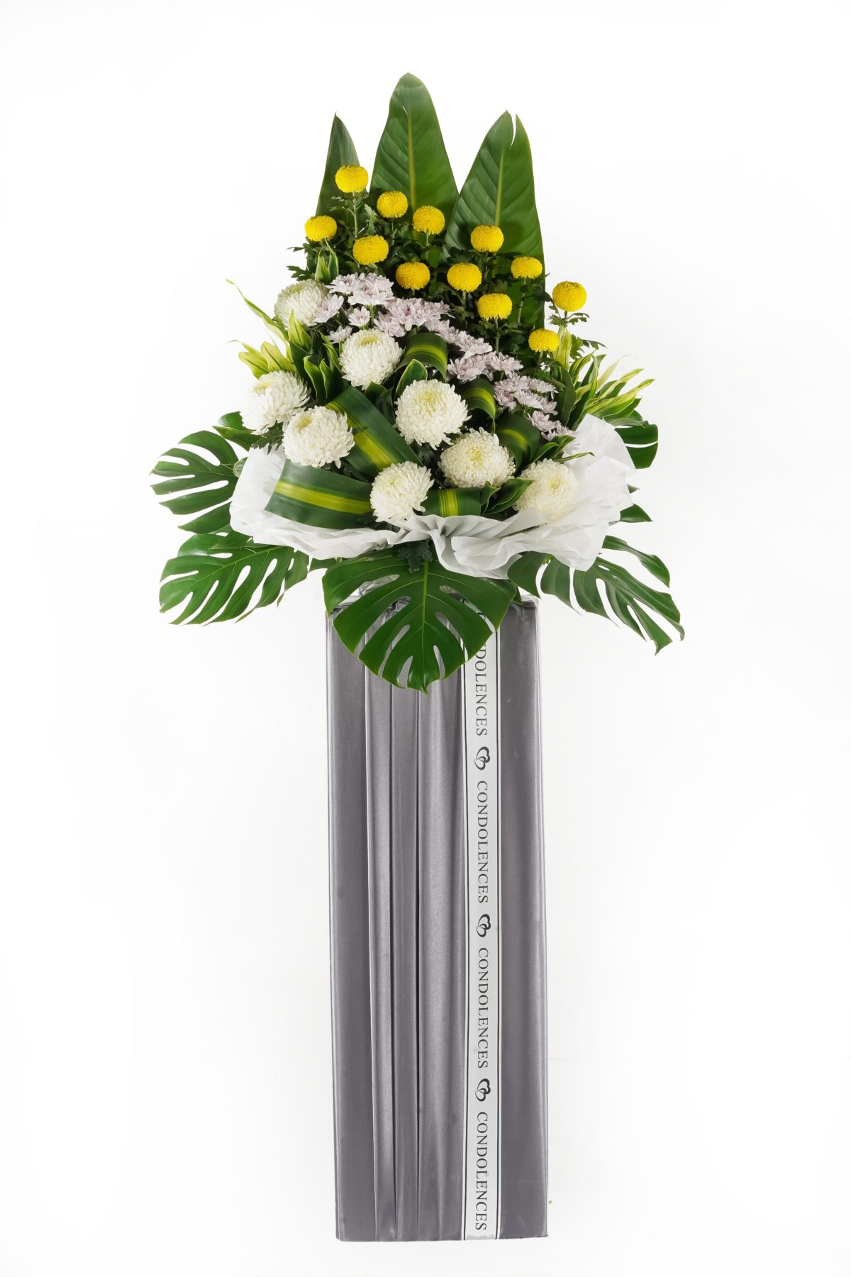 Silent Moment Funeral Flower Stand and Condolence Flowers in Malaysia